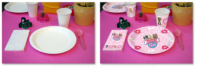 Before After Photo Retouching plates and cups